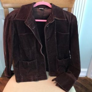 Chocolate brown corduroy jacket by DKNY